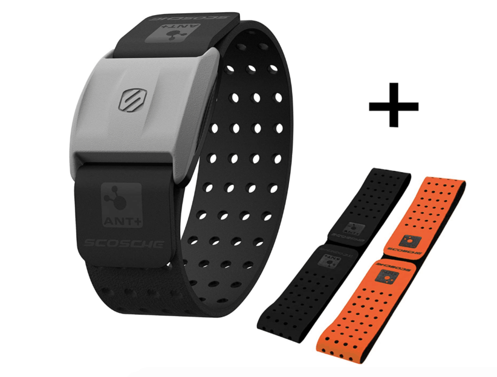 Scosche Rhythm+ Heart Rate Monitor works with Peloton Bike
