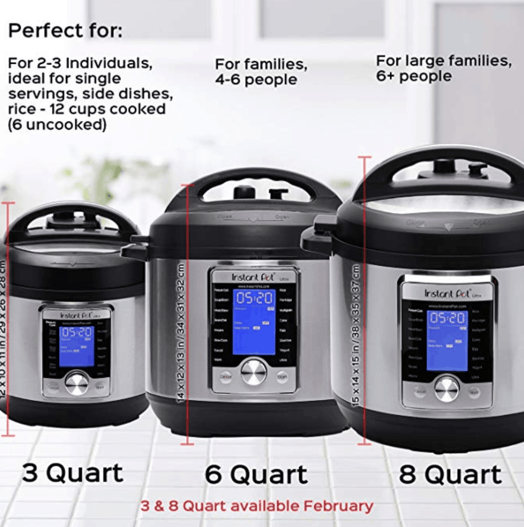 6 quart instant pot vs 8 quart