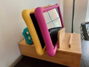 Tablet Organizer Stand With Docking Solution for Kids Tablets