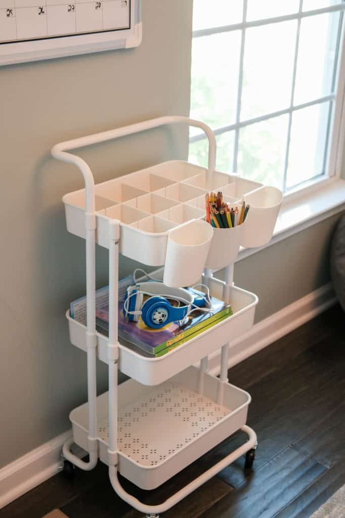 school supply cart for distance learning