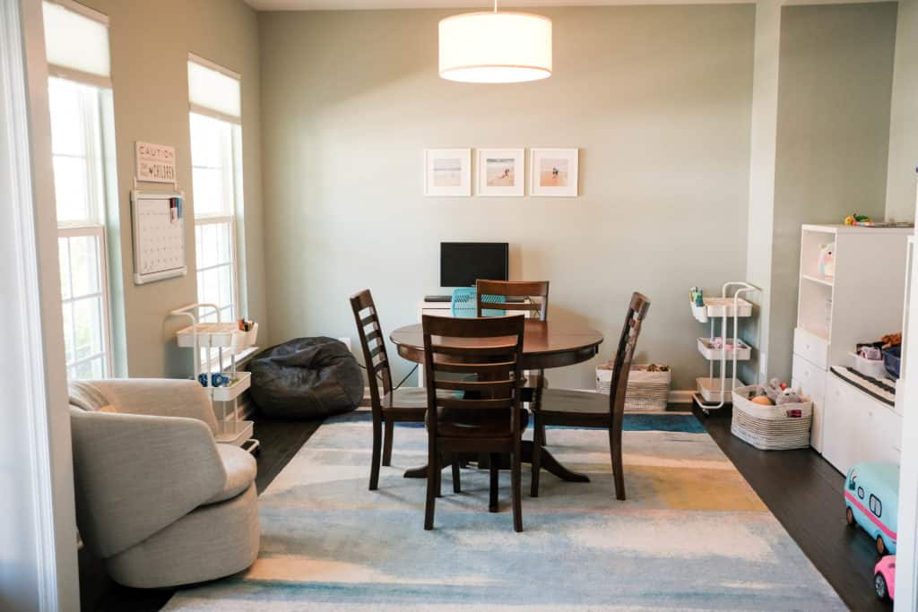 Virtual learning and homeschool space in the home