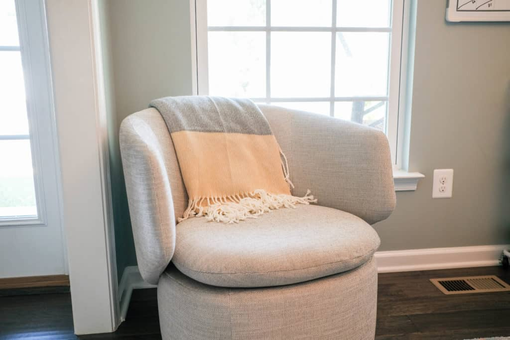 chair in learning space at home