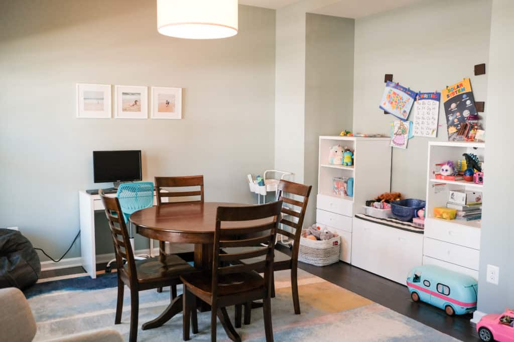 distance learning/playroom shelving from Ikea