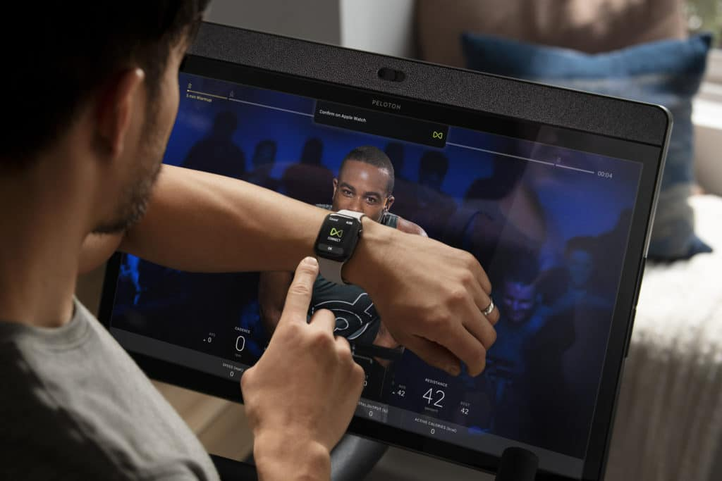 Peloton bike+ connecting to watch