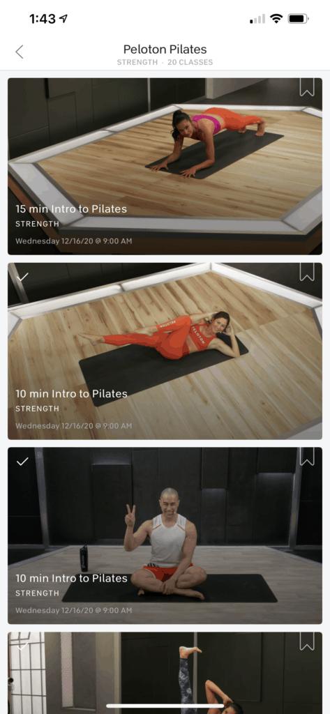 does peloton offer pilates