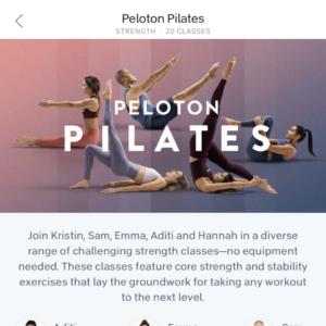 Does peloton have pilates classes