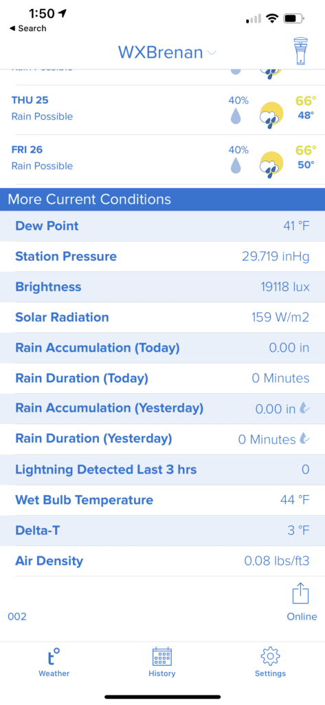 Tempest weather system app