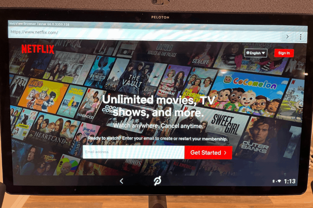 Netflix on Peloton